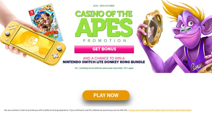 Play to Win in CasinoLuck's New Casino of the Apes Promo