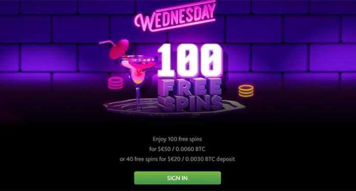 Enjoy 100 Free Spins this Wednesday When You Play 7Bits Casino