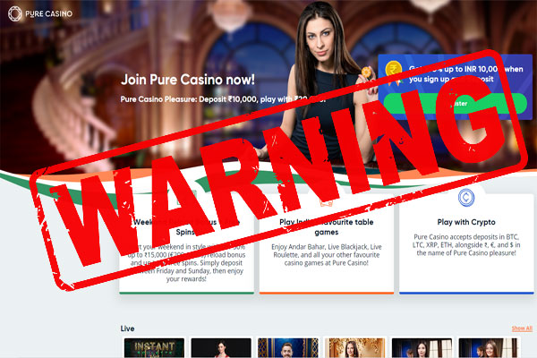Pure Casino Payout Complaint