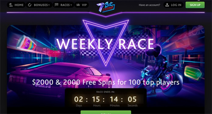 $2K + 2000 Free Spins for 100 Top Players at 7Bit Weekly Races