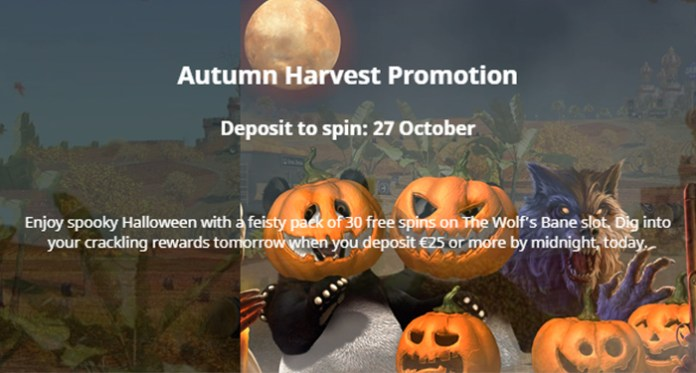 The Halloween Treat at Royal Panda is a 30 Freebie on Wolf's Bane Slot