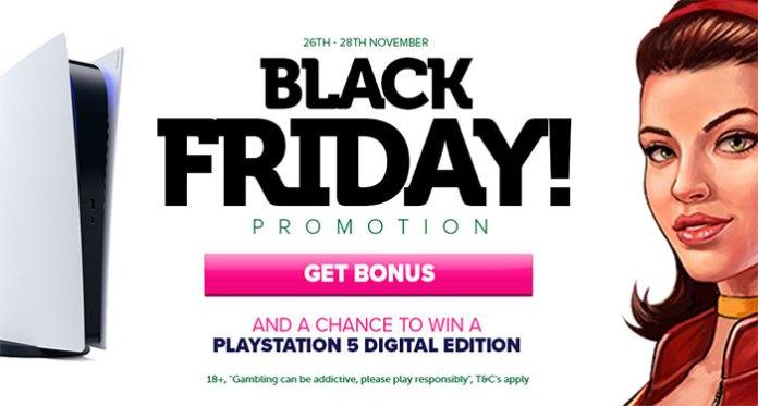 CasinoLuck's Black Friday Promo - Win a Digital Sony Playstation 5