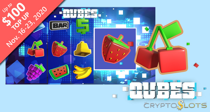 Cryptoslots' Crypto Casino Gives Players up to $100 on New 'Qubes' Slot