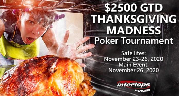 Intertops Poker Players Win $2500 Thanksgiving Madness Poker Tournament