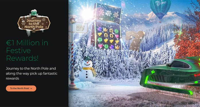 It's Christmas at Mr. Green, Play for Cash Prizes, Holiday Trips & More!