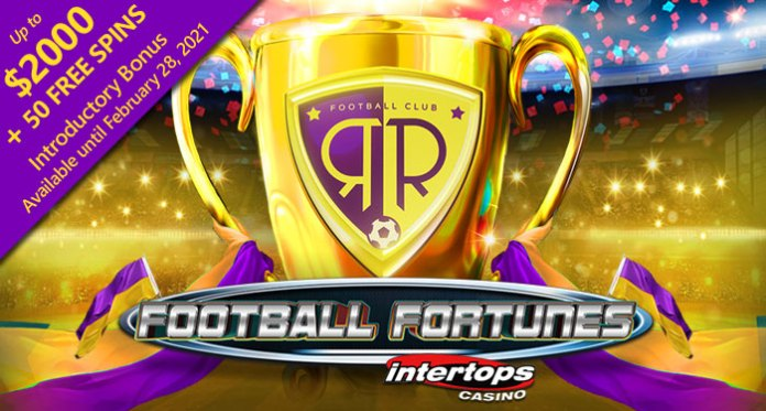 Get 50 Free Spins at Intertops on 50 Free Spins on Fortunes Soccer Slot