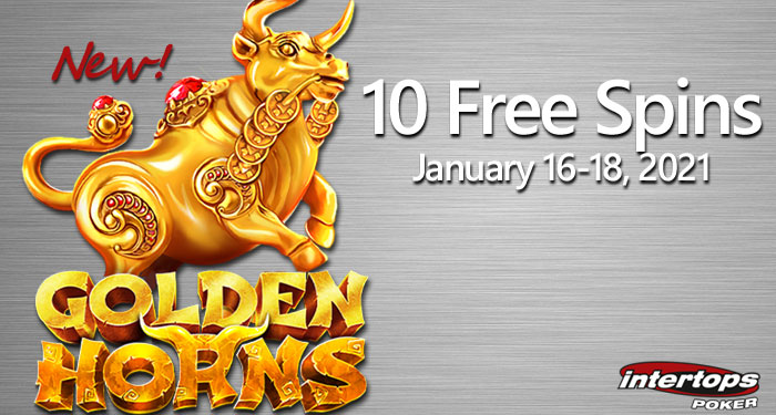 Intertops Celebrates Year of the Ox w/ 10 Free Spins Betsoft 'Golden Horns'