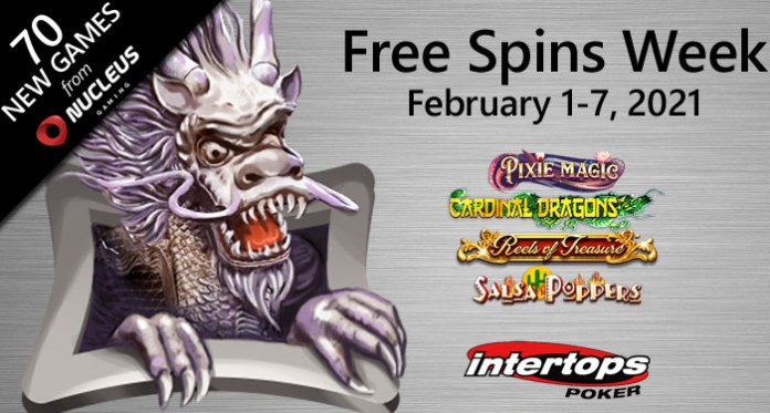Intertops Poker Adds 70 New Slots from Nucleus Gaming