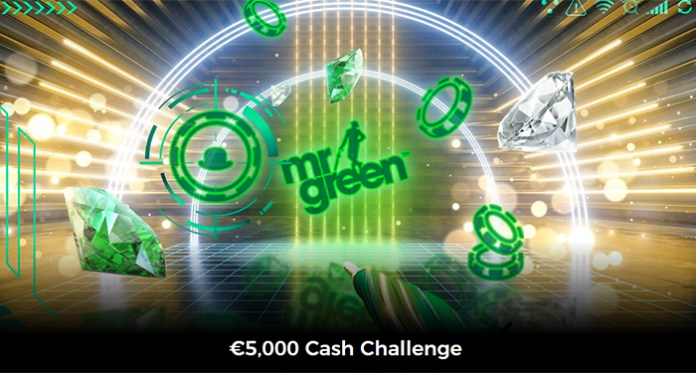 Play the $5,000 Cash Challenge at Mr Green Casino