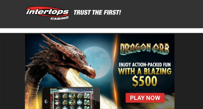 Introductory Bonus on Dragon Orb, 100% up to $500 + 50 Spins
