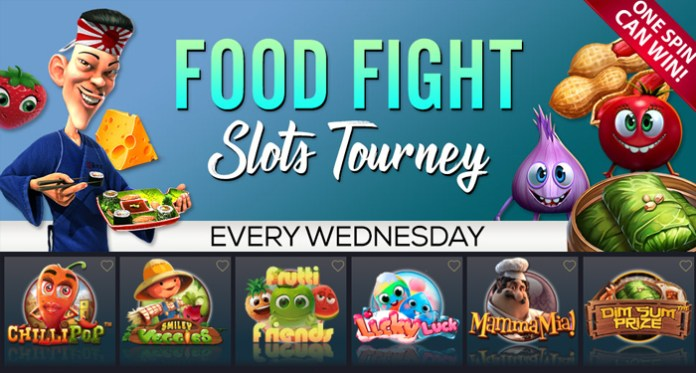 Come Play in the Vegas Crest February Food Fight Slots Tourney