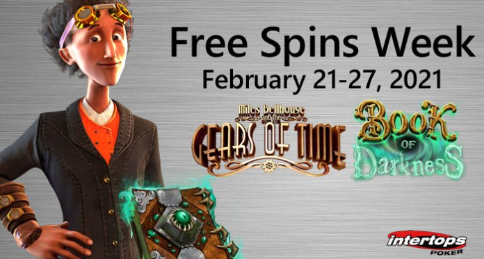 Time Travel/Black Magic Featured in Intertops Poker's Free Spins Week
