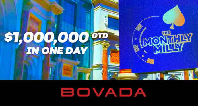 Want a Shot at a $1 Million Prize Pool? Play Bovada's Monthly Milly Today!