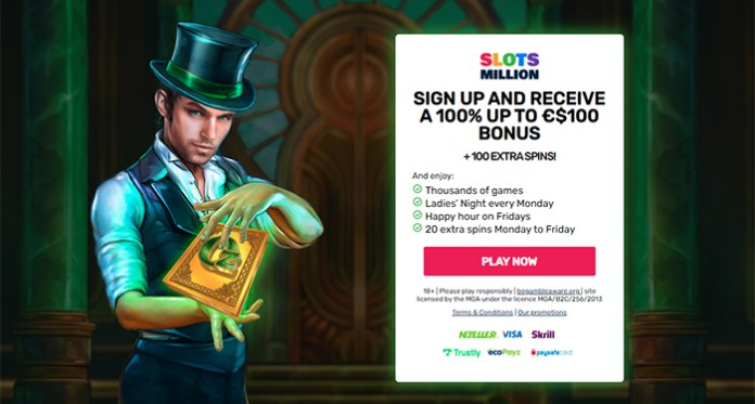 Sign Up and Receive a 100% up to €$100 Bonus + 100 Extra Spins