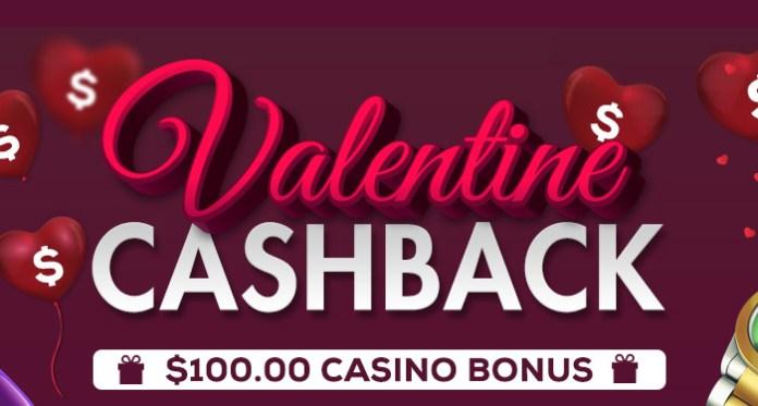 Get $100 Casino Bonus on Valentine's Day at CyberSpins Casino