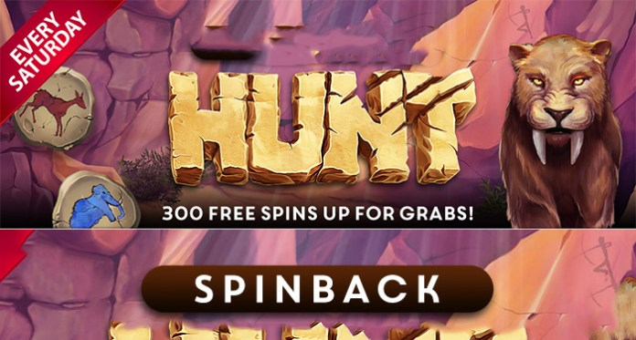 It's Time for a Spinback Hunt! Join Cyberspins for 300 Free Spins