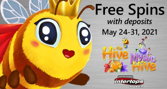 Intertops Poker's Casino Games Buzzing with Excitement for Free Spins Week