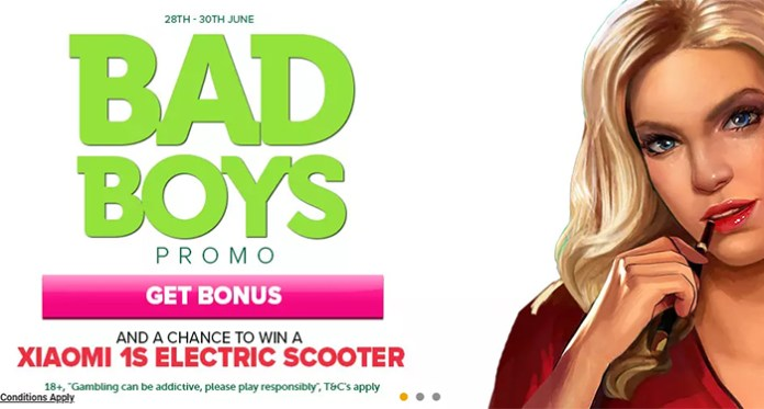 Bad Boys Can Play for a Chance to Win a XIAOMI 1S Electric Scooter