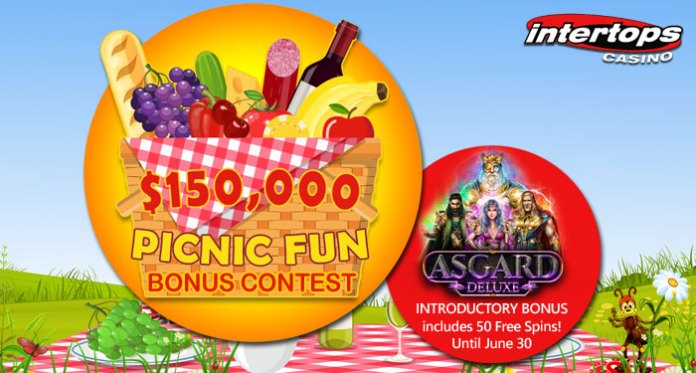 Earn Points with Intertops Weekly Prizes During $150,000 Picnic Fun Contest