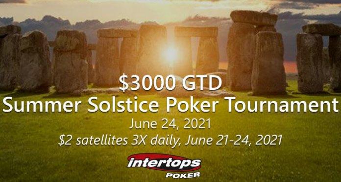 Intertops Poker's $3K GTD Summer Solstice Tournament Satellites Start Monday