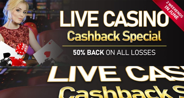 Live Casino Cashback Special Exclusively at Cyberspins Casino