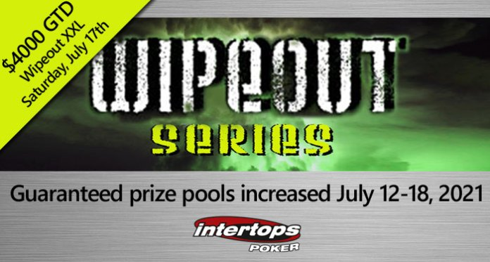 Prizes Increased for Intertops Poker's Next Wipeout Poker Tournament Series