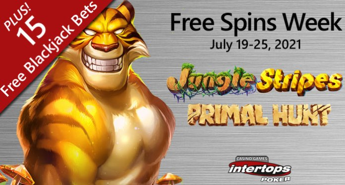 Intertops Poker Players Take a Walk on the Wild Side During Free Spins Week