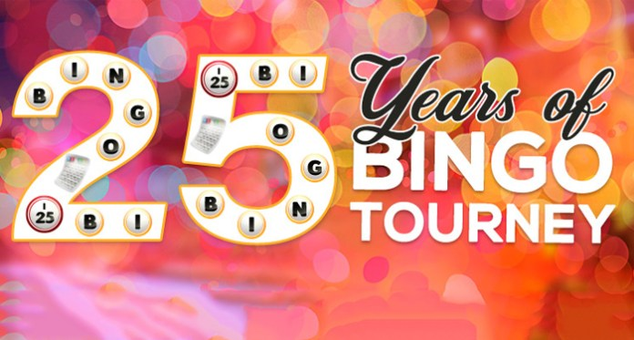Celebrate 25 years of Bingo at CyberSpins, Top of the Hour Games