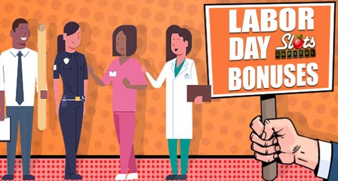 Labor Day Bonuses at Slots Capital Casino Give up to 100 Free Spins