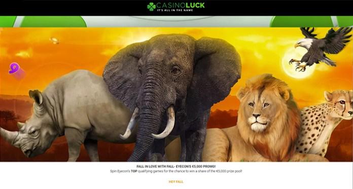 Jatuh Cinta dengan Promo $5,000 Fall-Eyecon Selama di CasinoLuck