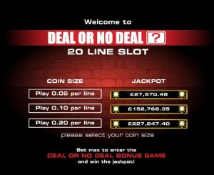 Screenshot image of Deal or No Deal casino game