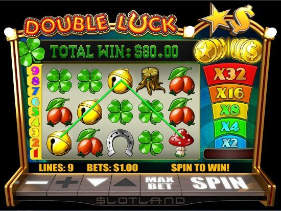 Screenshot image of the Double Luck slot game