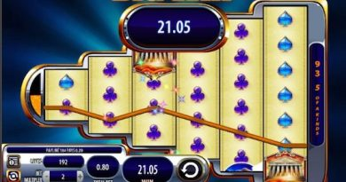 Screenshot image of a big win playing Zeus 3 slots