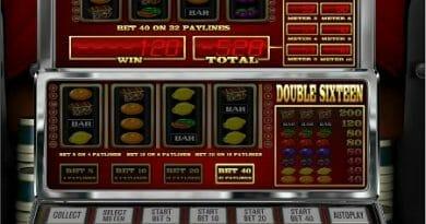 Screenshot image of the Double Sixteen slot game
