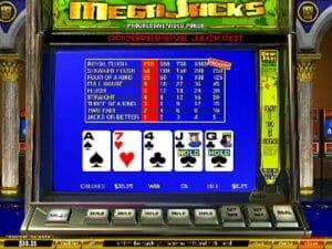 Screenshot image of Mega Jacks video poker progressive game