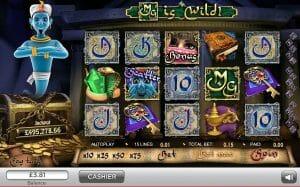 Screenshot image of millionaire genie slot