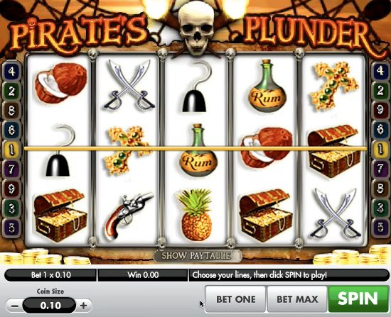 Pirates Plunder slots sites – Free bonuses to win £10,000 in one spin.