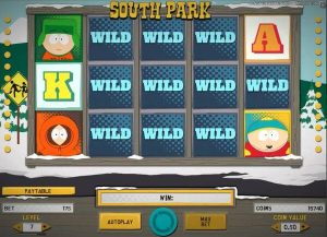 Screenshot image of south park slot free spins
