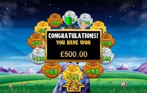 Rainbow Riches slot Pots of Gold Bonus Game