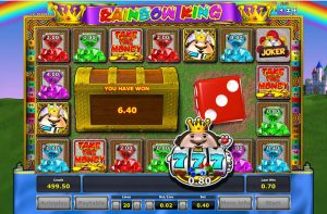 Screenshot image of Rainbow King bonus game won