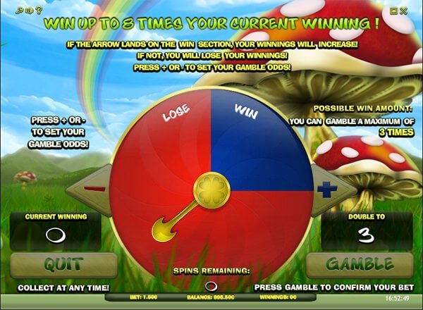 Screenshot image of Lucky Leprechaun slot gamble side game