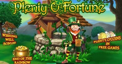 Screenshot image of Plenty O fortune slot game welcome screen