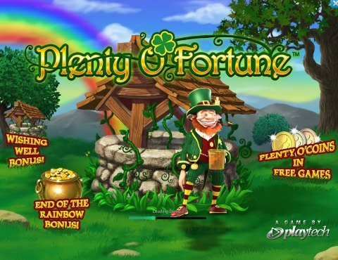 Screenshot image of Plenty O fortune slot game welcome screen