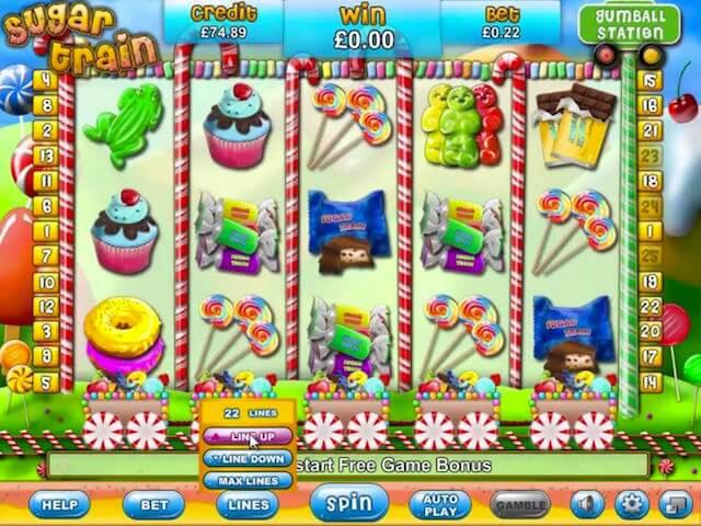 Screenshot image of Sugar Train slot machine game