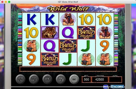 Screenshot image of Wild Wolf slot bonus activated