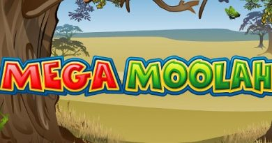 Logo image of the Mega Moolah slot machine game