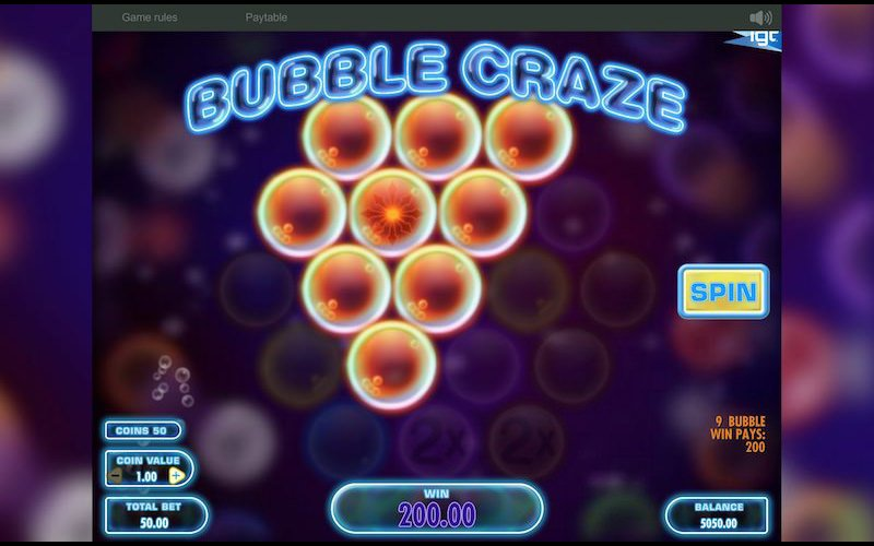 Bubble Craze slot screenshot image