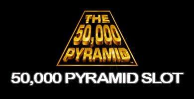 Header image of the 50000 pyramid slot review