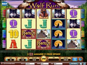 wolf run slot bonus