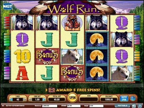 wolf run slot bonus